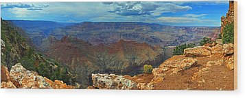 Grand Canyon Panoramic View Wood Print