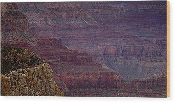 Grand Canyon Ridges Wood Print by Andrew Soundarajan