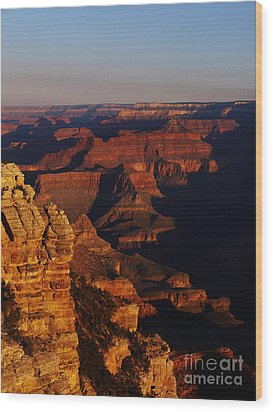 Grand Canyon Sunset Wood Print by Holger Ostwald