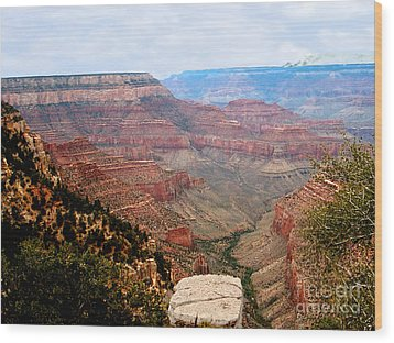 Grand Canyon With Smoke Wood Print by The Kepharts