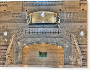 Grand Central Terminal East Balcony I Wood Print by Clarence Holmes