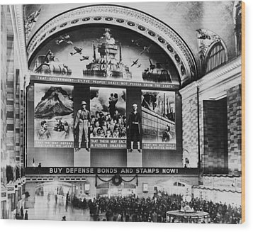 Grand Central Terminal Mural. A Huge Wood Print by Everett
