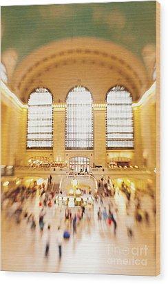Grand Central Terminal New York City Wood Print by Kim Fearheiley