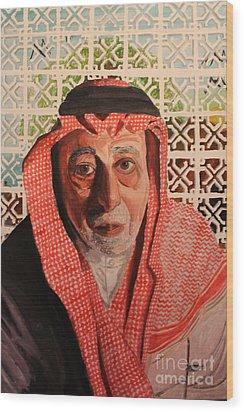 Grand Father Wood Print by Betul Salman