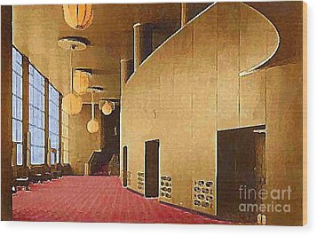 Grand Foyer In The Center Theatre In New York City 1940 Wood Print by Dwight Goss