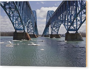 Wood Print featuring the photograph Grand Island Bridges by Darleen Stry