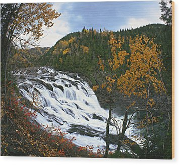 Grand-sault Falls On Madeleine River Wood Print by Yves Marcoux