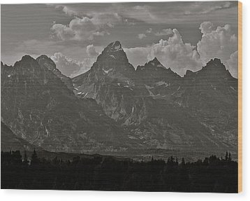 Wood Print featuring the photograph Grand Tetons by Eric Tressler