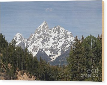 Wood Print featuring the photograph Grand Tetons by Living Color Photography Lorraine Lynch