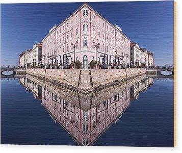 Grande Canal Trieste Wood Print
