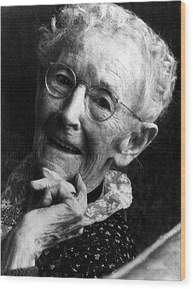 Grandma Moses 1860-1961, Renowned Wood Print by Everett