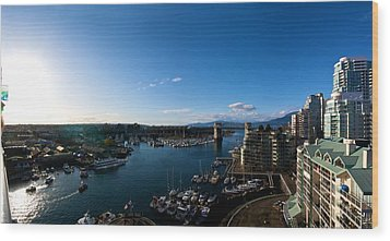 Wood Print featuring the photograph Grandville Island In Yaletown Bc by JM Photography