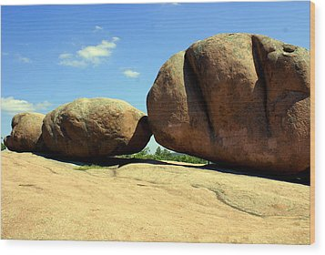 Granite Boulders 2  Wood Print by Marty Koch