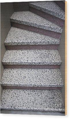 Granite Stairs Wood Print by Sam Bloomberg-rissman
