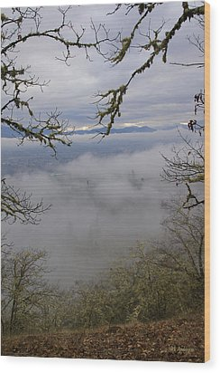 Wood Print featuring the photograph Grants Pass In The Fog by Mick Anderson