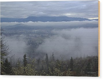 Wood Print featuring the photograph Grants Pass Weather by Mick Anderson