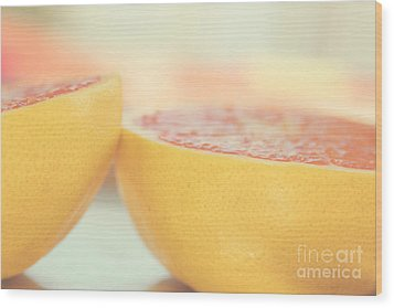 Grapefruit Wood Print by Kim Fearheiley