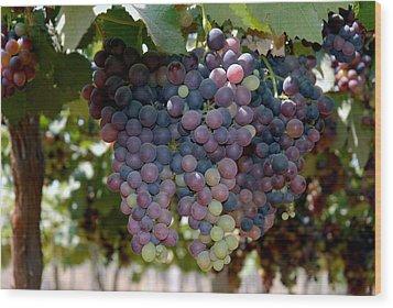 Grapes Bunch Wood Print by Johnson Moya