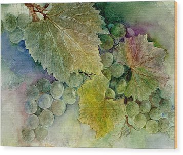 Grapes II Wood Print by Judy Dodds