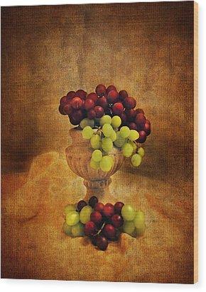 Grapes Wood Print by Jai Johnson