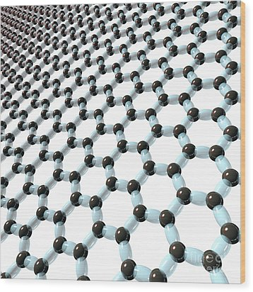 Wood Print featuring the digital art Graphene 8 by Russell Kightley