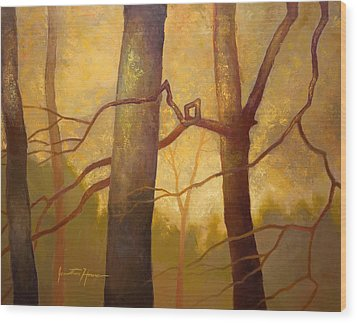 Graphic Trees Wood Print by Jonathan Howe