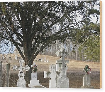 Wood Print featuring the photograph Graveyard by Brian Sereda