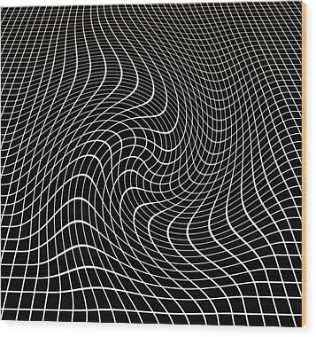 Gravity Waves In Space-time, Artwork Wood Print by Victor De Schwanberg
