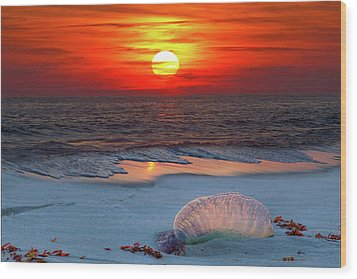 Grayton Beach Sunset IIi Wood Print