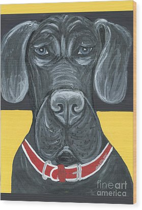 Great Dane Poster Wood Print