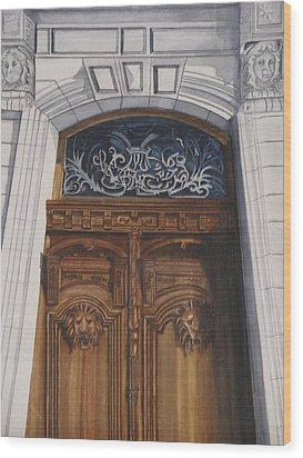 Great Door Wood Print by Emmanuel Turner