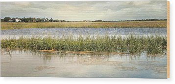 Wood Print featuring the photograph Great Marsh by Karen Lynch