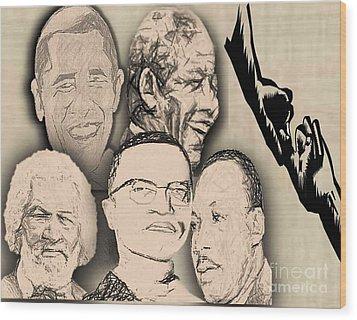Great Powerful African American Men Wood Print by Belinda Threeths