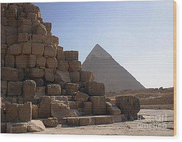 Great Pyramids Khafre Wood Print by Darcy Michaelchuk