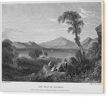 Greece: Gulf Of Salamis Wood Print by Granger