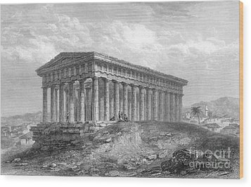 Greece: Temple Ruins Wood Print by Granger