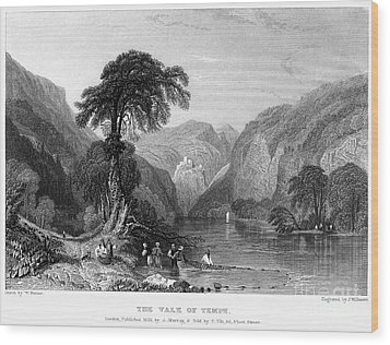 Greece: Vale Of Tempe Wood Print by Granger