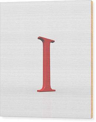Greek Letter Iota, Upper Case Wood Print by David Parker