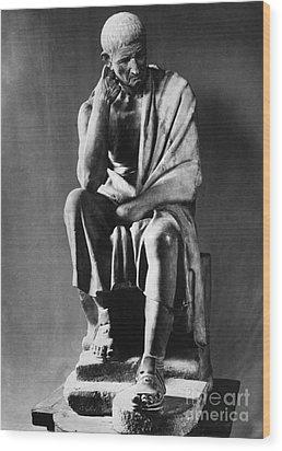 Greek Philosopher Wood Print by Photo Researchers