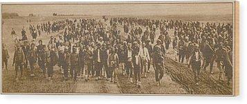 Greek Refugees Were Forced Wood Print by Everett