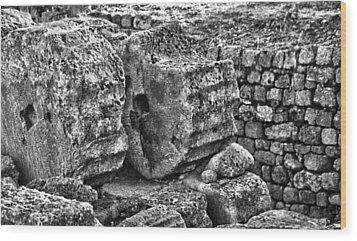 Greek Ruins  Wood Print by Thomas Kessler