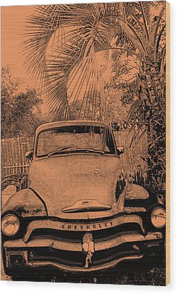 Greeks Truck Wood Print by Gerald Cooley