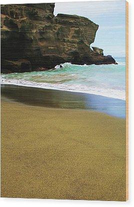 Green Beach Wood Print by James Mancini Heath