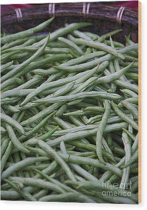 Green Beans Wood Print by David Buffington