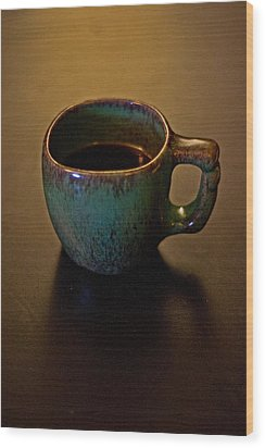 Wood Print featuring the photograph Green Cup Of Coffee by Randall  Cogle