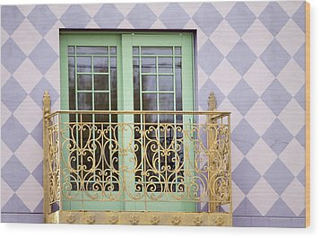 Green Doors Wood Print