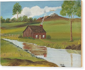 Green Grass Of Home Wood Print