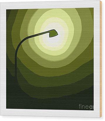 Green Is Hope Wood Print by Steve K