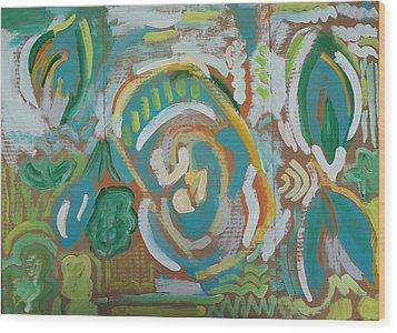Green Wood Print by Jay Manne-Crusoe