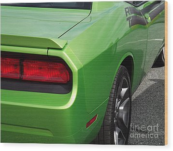 Green With Envy Wood Print by Chad Thompson